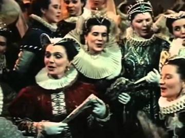 "Лариса Авдеева, хор ГАБТ Сцена на балу из оперы ""Борис Годунов"""